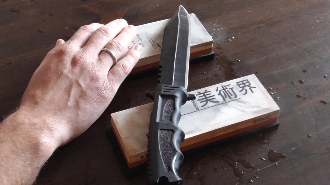 How To Sharpen A Knife On Sharpening Stone Whetstone Razor Edge