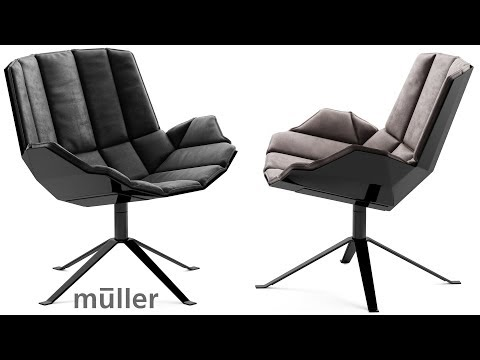 """№173. Chair Modeling """" Muller MARTINI CHAIR """" Autodesk 3ds Max"""