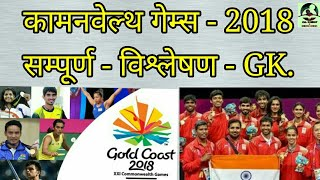 GK: Commonwealth Game 2018 (Gold Cost) सम्पूर्ण विश्लेषण। IAS/PCS/SSC/Polic. All oneday & other exam