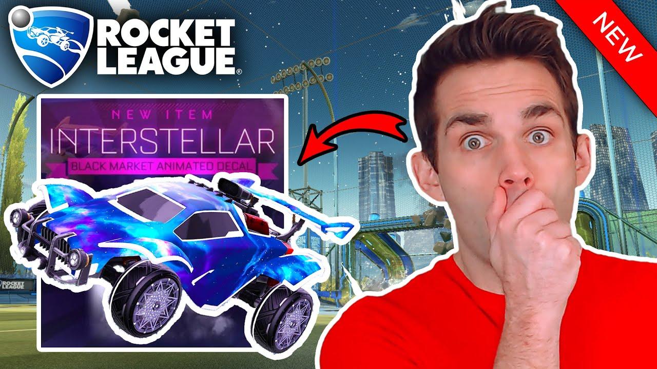 New Painted Interstellar Black Market Decal In Rocket League Showcase Youtube