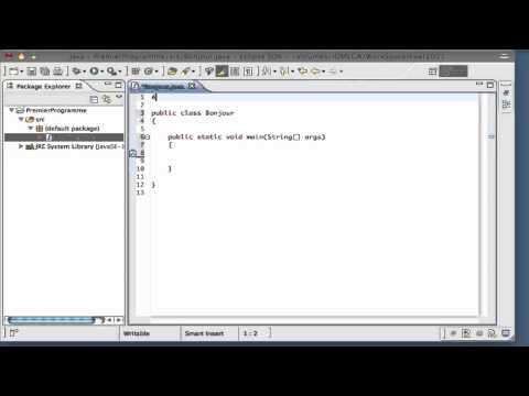 Apprendre Java - Premier programme Java - 1