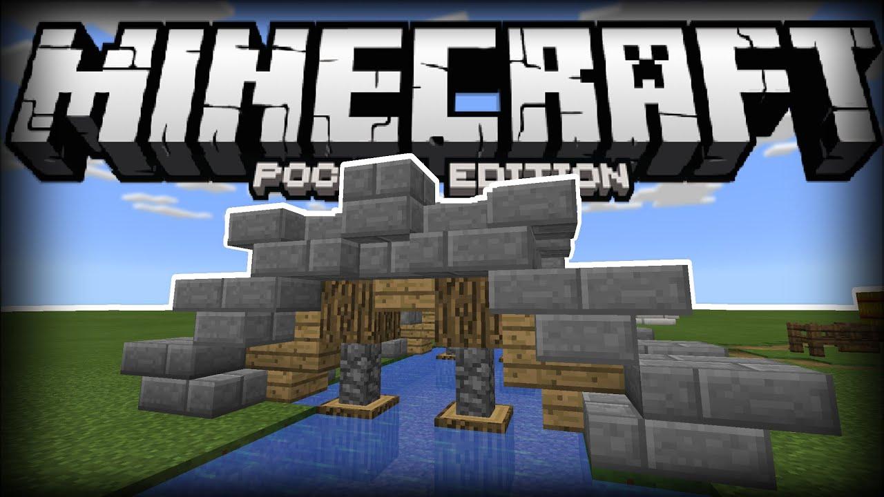 small medieval bridge tutorial so cute minecraft pocket edition youtube