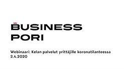 Kelan palvelut yrittäjille koronatilanteessa