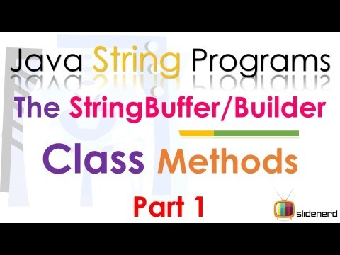 96 Java StringBuffer and StringBuilder Methods Part 1 | coursetro.com