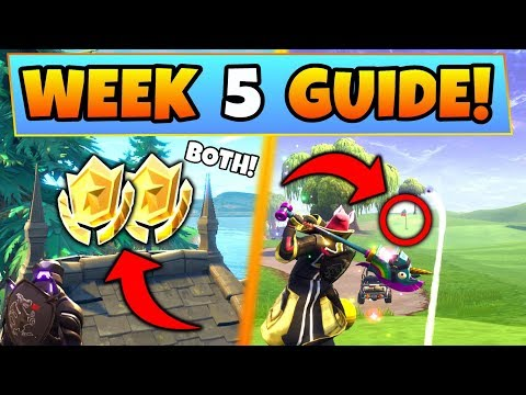 Fortnite WEEK 5 CHALLENGES GUIDE! – SECRET STAR, Treasure MAP STAR & More (Battle Royale Season 5)