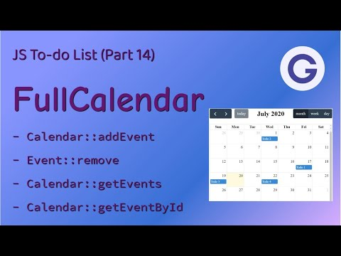 JS To-do List #14 FullCalendar - Rendering A Calendar With JavaScript