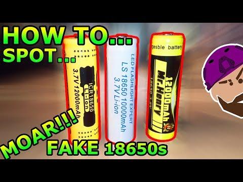 12000mAh???  | HOW TO: Spot MOAR fake 18650 Batteries on eBay | GTL, GIF, Mr Henry, Ultrafire Test