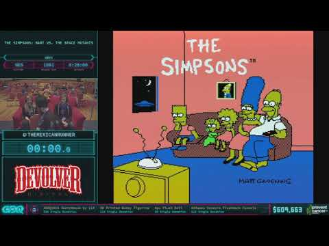The Simpsons: Bart vs the Space Mutants by TheMexicanRunner in 19:36 AGDQ 2018