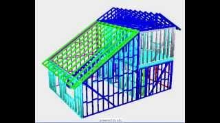 3-d House Framing Design