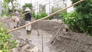 Hồ cá koi thi công từ a-z full.Koi pond construction