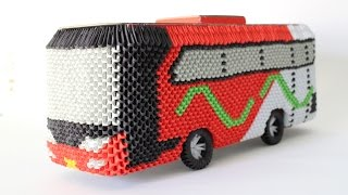 HowTo: 3D Origami Bus Om Telolet Om - Part 1