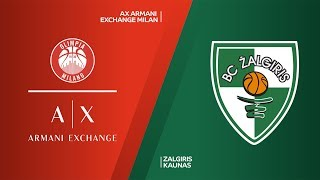 AX Armani Exchange Milan - Zalgiris Kaunas Highlights | Turkish Airlines EuroLeague, RS Round 2