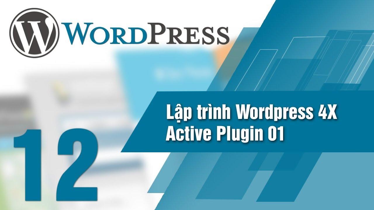Lập Trình WordPress 4x – Bài 12 Active Plugin 01