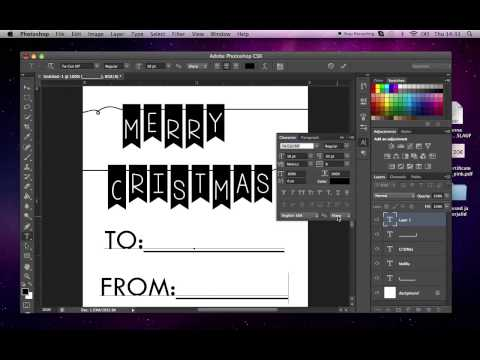 How To Make Printable Gift Tags In Adobe Photoshop