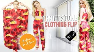 TRANSFORMING THRIFTED CLOTHES! | DIY Thrift Flip Ep.1