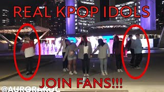 [KPOP IN PUBLIC] Real Kpop Idols Join In to Dance!! 진짜 아이돌이 나타났다?!*Meme Version*