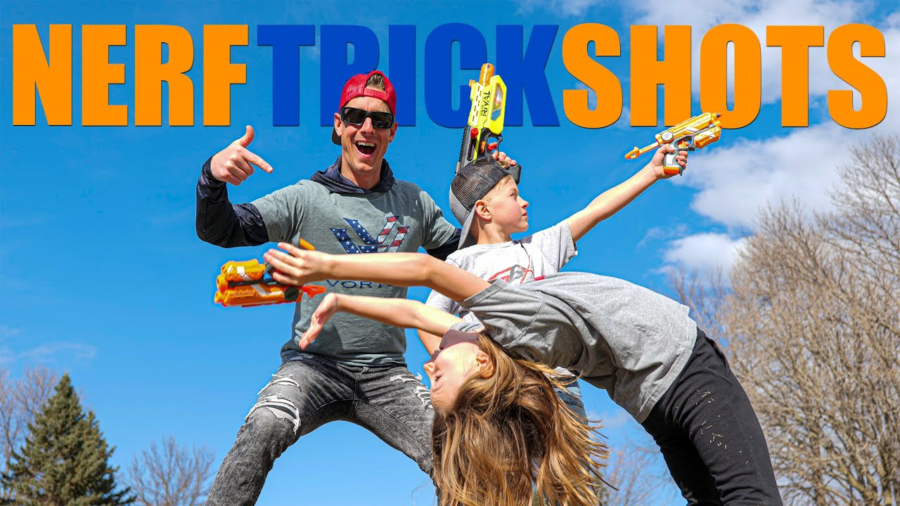 Social Distancing Nerf Trick Shots | Gould Brothers