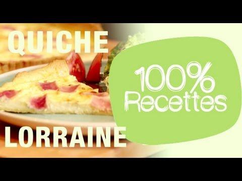 100% recettes - La quiche lorraine - YouTube