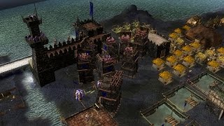 Stronghold Legends Multiplayer - NightMare vs DragonFire vs SergiuHellDragoonHQ Deathmatch