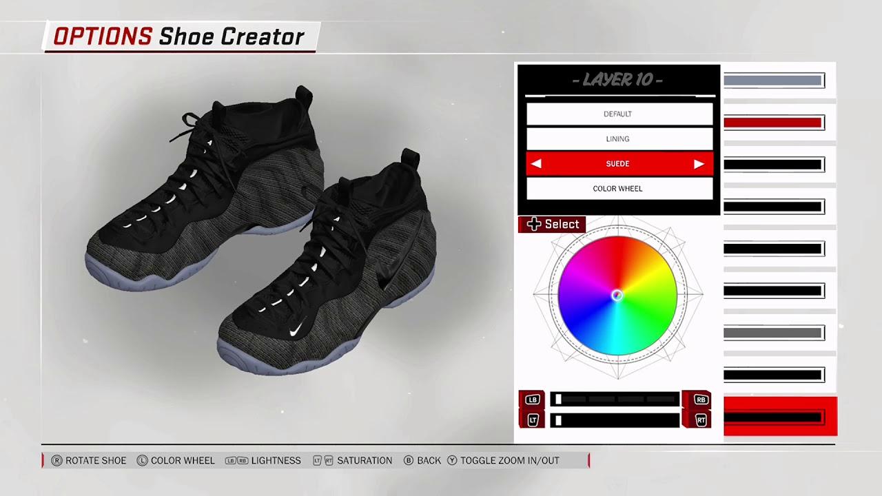 NBA 2K18 Shoe Creator Nike Foamposite Pro