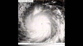 海燕颱風的一生