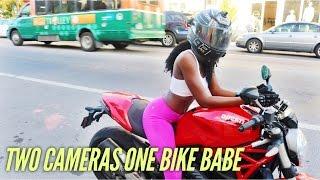 LATE NIGHT FEMALE MOTOVLOGGER X TWO CAMERAS ONE BIKE BABE X MOTOVLOG SET UP X MOTO VLOG 24