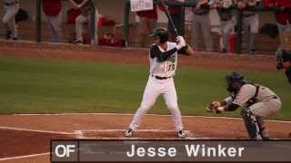 Jesse Winker playing for the Dayton Dragons in 2013