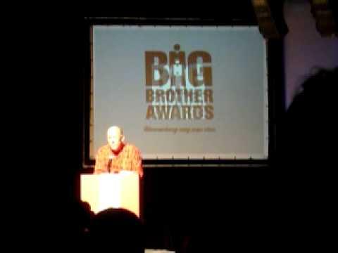 """Big Brother Awards 2009 - Peter Purgathofer """"lebenslanges Ärgernis"""""""