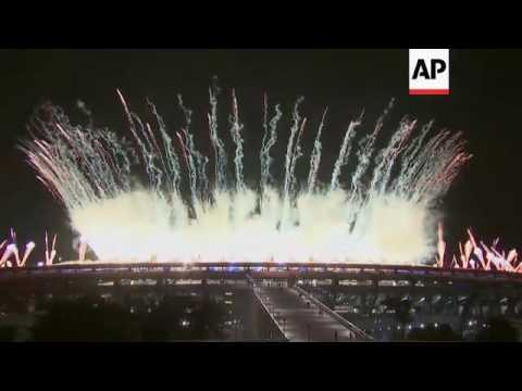 Fireworks kick off Rio Olympics opening ceremony