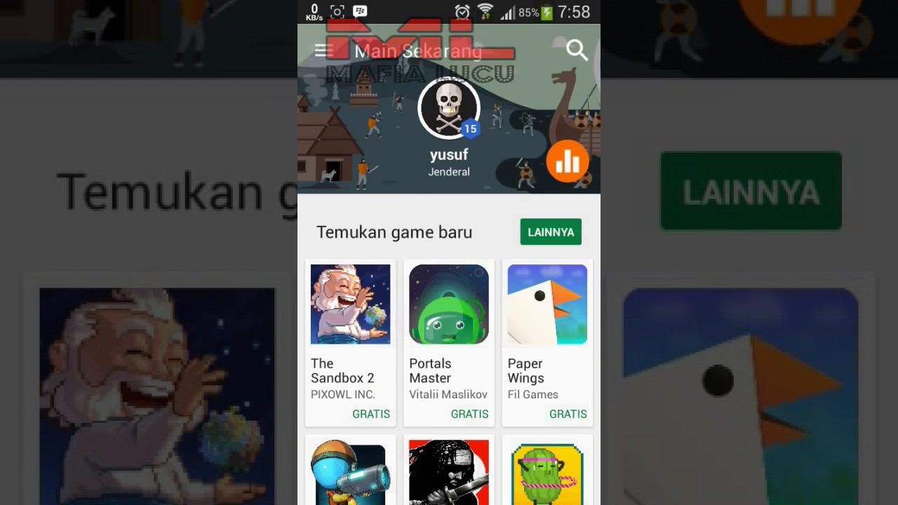 Akun Google Play Game Tidak Bisa Memuat Youtube