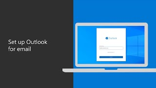 How to set uṗ your work email with Outlook