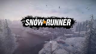SnowRunner Опрокинутая  Тайга  с полуприцепом Выпавший груз Спасение на болотах Островное озеро