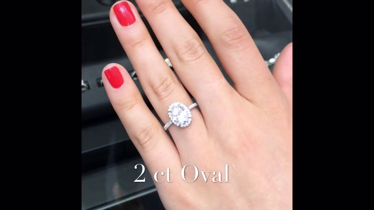 2 Ct Oval Diamond Invisible Gallery Halo Ring YouTube