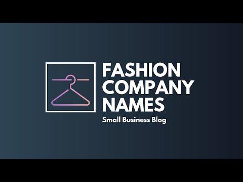 Catchy Fashion Company Names