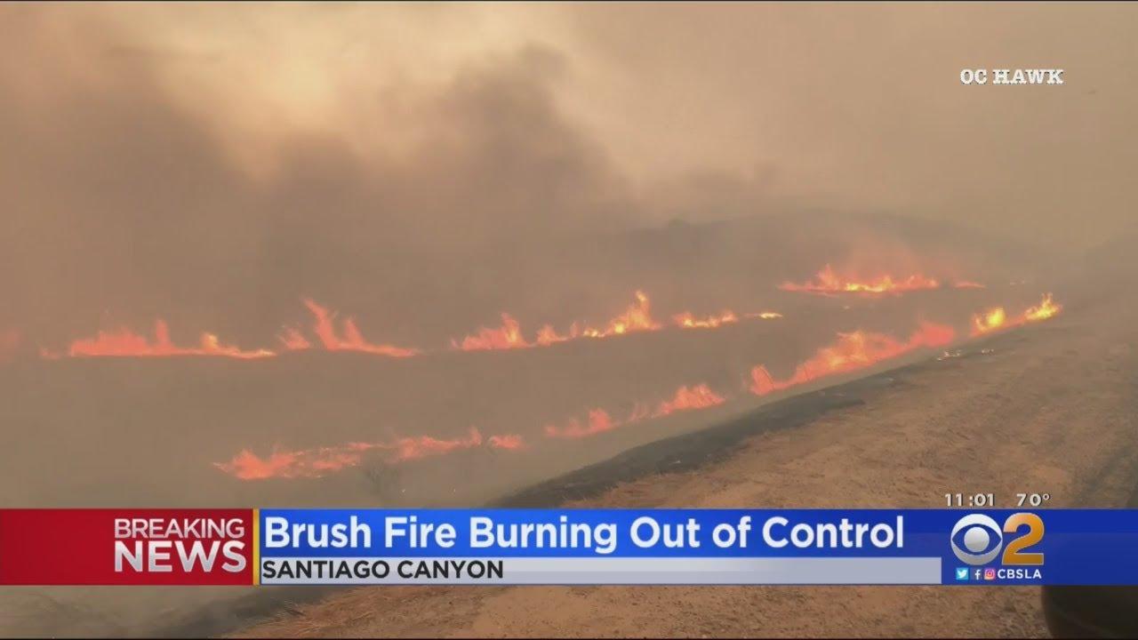 Wind-Driven Bond Fire Explodes In Silverado Canyon Near Irvine ...