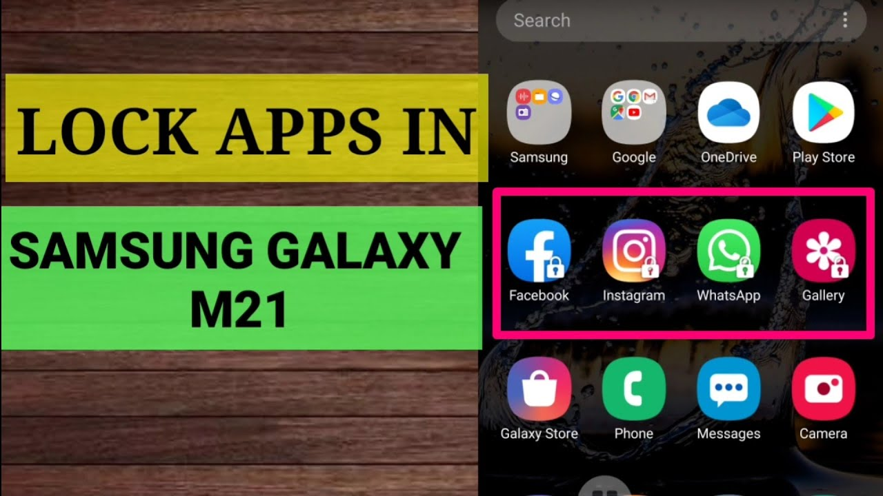 How To Enable App Lock In Samsung Galaxy M21