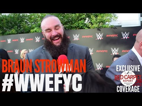 "Braun Strowman interviewed at the ""WWE"" FYC Event #WWEFYC #WWE #Emmys"
