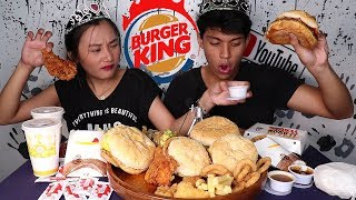 How to enjoy BURGER KING | MUKBANG