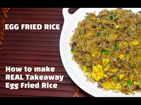 How to make REAL Takeaway Egg Fried Rice - Chinese Egg Fried Rice Restaurant Style - Egg Fried Rice