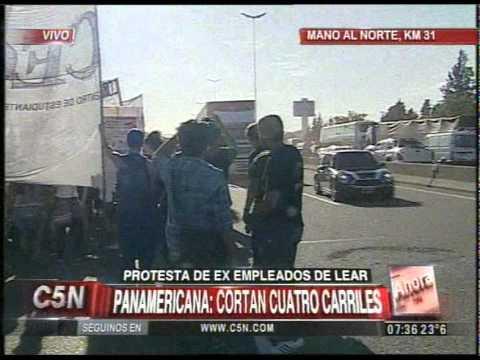 C5N - TRANSITO: CORTE PARCIAL EN PANAMERICANA (PARTE 1)