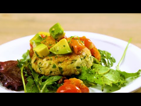 Fish Cakes With Avocado And Roasted Tomato Relish