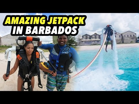 AMAZING JETPACK IN BARBADOS!
