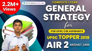 Complete 1 Year UPSC CSE Preparation Strategy by UPSC Topper 2018 AIR 2 Akshat Jain