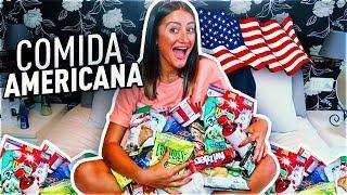 PROBANDO COMIDA AMERICANA ORIGINAL - RETO COMIDA | FatiVázquez