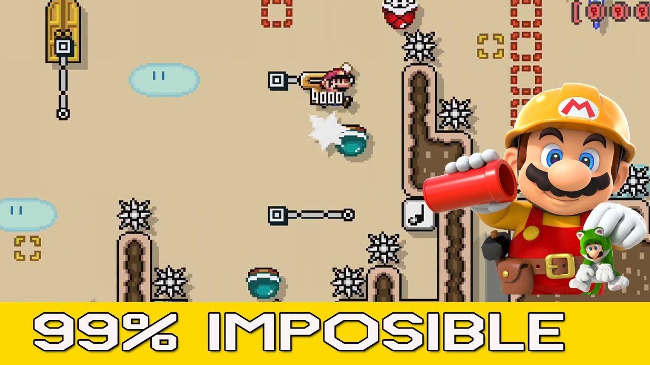 La mala suerte me persigue / Super Mario Maker 2 / Niveles 99% Imposibles #25