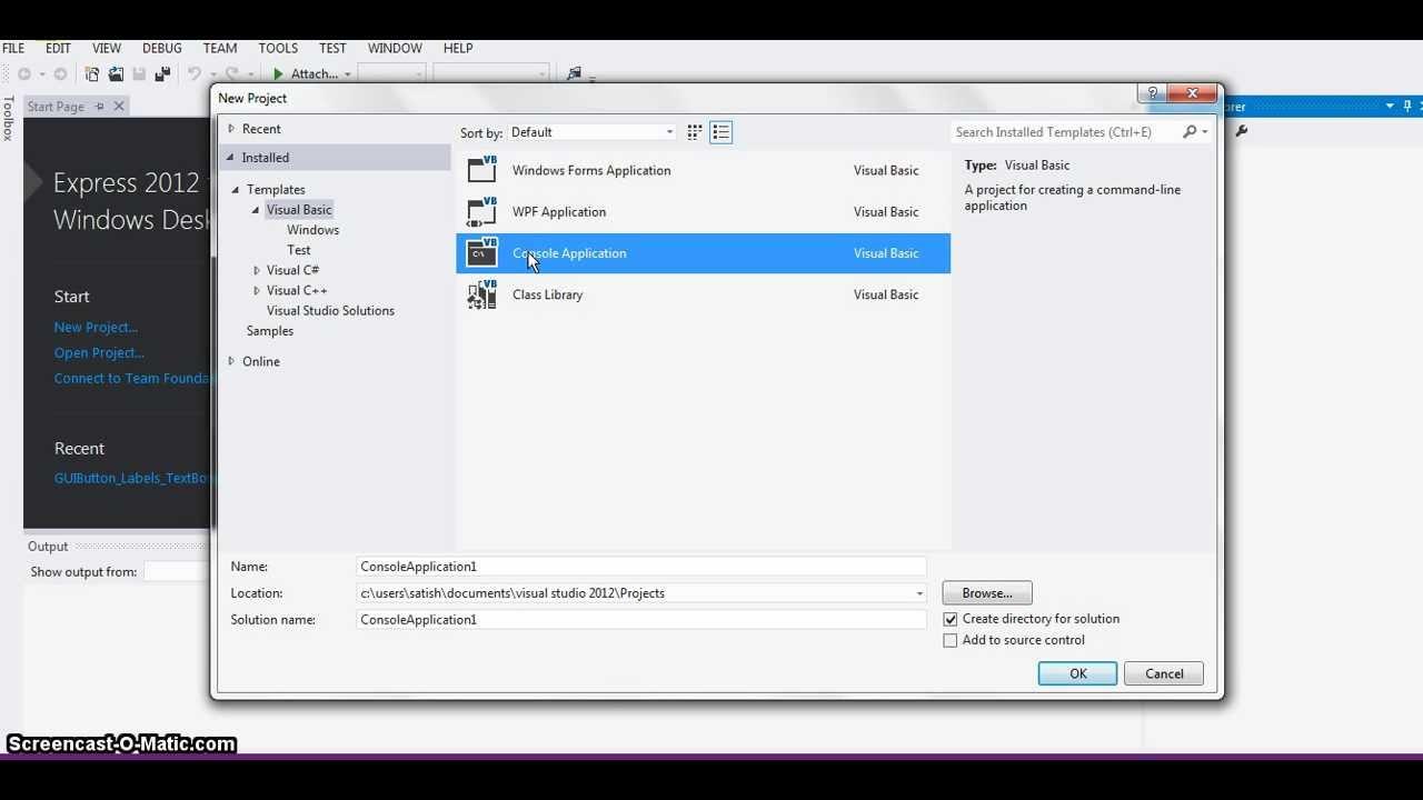 Data Input Inmand Line Vb Programs  Rectangle Program