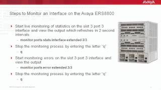 How to Monitor an Interface on the Avaya ERS8800