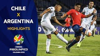 Chile 0-2 Argentina  I  Preolímpico 2020