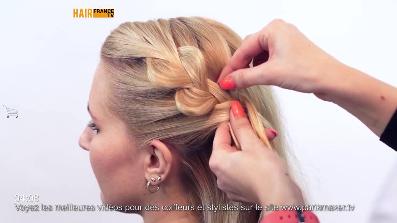 Tuto coiffure: Chignon bas facile a faire HAIR France TV - YouTube
