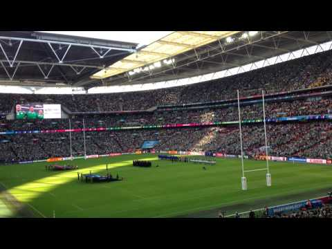 """Ireland's Call"" being sung by record breaking crowd at Wembley before Ireland v Romania RWC 2015"